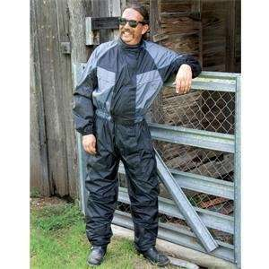 River Road High N Dry One Piece Rainsuit   3X Large/Black