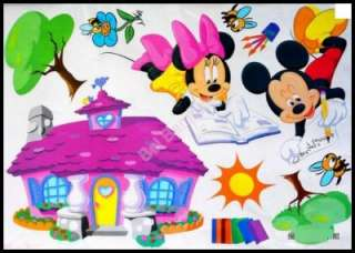 DISNEYs MICKEY & MINNIE MOUSE Removable Wall Stickers Decals Nursery