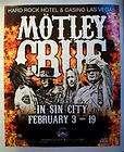 Motley Crue Hard Rock Casino Las Vegas Concert Show Ad