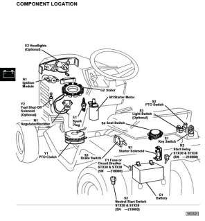 Cub Cadet 100 Wiring Diagram as well Wiring Diagram John Deere Lt155 besides Schematic For John Deere L130 Belt as well Wiring Schematic For John Deere Z925 additionally S 64 John Deere D140 Parts. on john deere lt133 electrical schematic