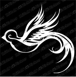 SPARROW #1 Vinyl Decal 3x3 car wall sticker tribal bird tattoo design