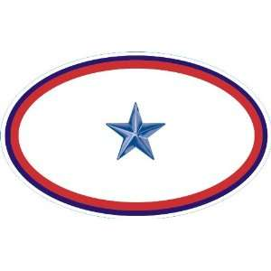 United States Army One Blue Star Service Banner Oval Decal Sticker 3.8