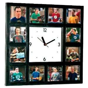 Sheldon Cooper the Big Bang Theory Clock W/12 Pictures of Him in His T
