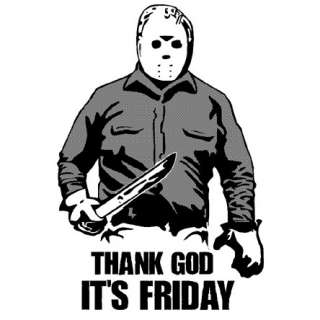 THANK GOD ITS FRIDAY Jason hockey mask 13th horror TEE