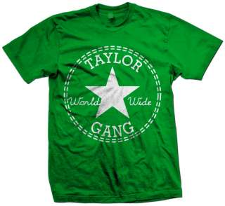 TAYLOR GANG ALL STAR ~ Wiz Khalifa Retro hip hop rap t shirt MODEL 1