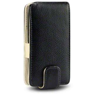 TERRAPIN GENUINE LEATHER FLIP CASE FOR NOKIA LUMIA 800   BLACK, CREAM