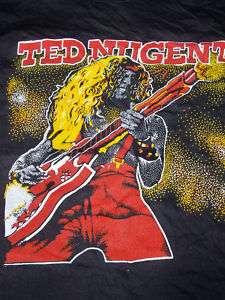 vintage 1970s deadstock Ted Nugent concert tour shirt