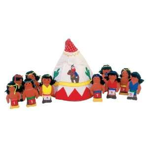 Ten Little Indians Playhouse Plush Counting Toy Home