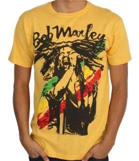 Bob Marley Billabong Mens Rasta Man Shirt Yellow