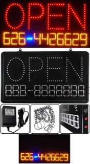 OPEN TEL. NO# Programmable LED Message Sign