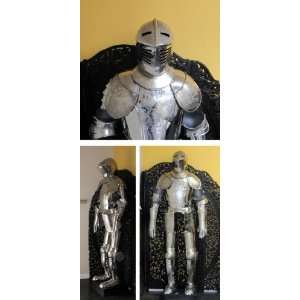 Reproduction Medieval Armour, Full Suit in Etched Steel