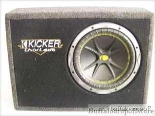 10 Kicker Livin Loud Sub Woofer 21X15 Angled Box
