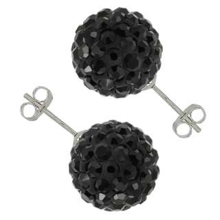 Black Pave Disco Ball Beads Hip Hop Style Adjustable Bracelet and