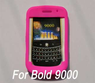 Silicone Case Skin Cover for Blackberry Bold 9000 Pink