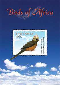 Tanzania Fauna Bird BIRDS OF AFRICA S/S new issue