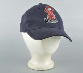 NWT BLIND SKATEBOARDS Navy Blue Baseball Cap Hat S/M