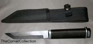 DARK DRAGON TANTO KNIFE DAGGER WITH BLACK NYLON SHEATH