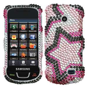Twin Stars Crystal Diamond BLING Case Phone Cover Straight Talk
