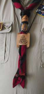 BIG & TALL Scouter Wood Badge Beads Boy Scout African Paduak EXTRA