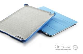 SGP Griff Leather Grip Case   iPad 2   Tender Blue 884828117252