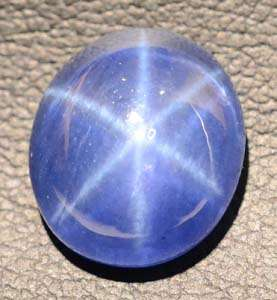 16x14 mm Blue Star Sapphire 6 Rays Cabochon BS9343 (Lab) VDO