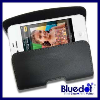 LEATHER CASE BELT CLIP COVER SKIN POUCH for IPHONE 4S