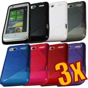 3x Soft Crystal TPU Gel Case for HTC Radar 4G C110e