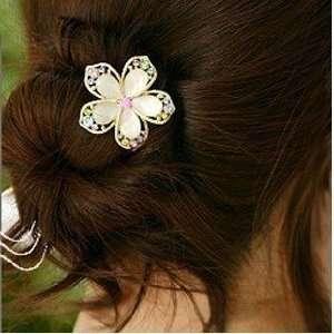 Fashion Cute Crystal Flower Wedding Bridal Hair Pin