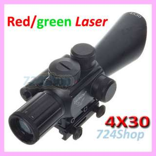 Zooming Tactical 5MW Green Red Laser Rifle Scope Sight Mounts