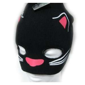 Kitty Cat Beanie   Face Mask   Rave Dance Accessories