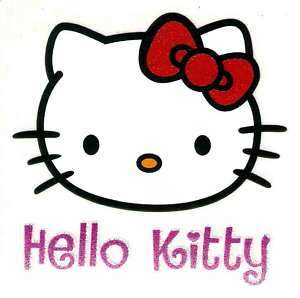 Hello Kitty red bow head face Tshirt Iron On Transfer
