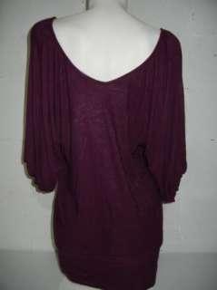 Womens T Bags Purple Dolman Top Dress Size Large