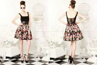 AUTH New Alice + Olivia Coco Sleeveless Floral Print Full Skirt Dress