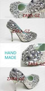 Super Bling Luxury Crystal Bridal Wedding shoes front