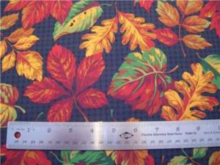 New Fall Leaves Fabric BTY Gold Red Green Autumn