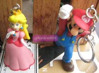 8PCS Nintendo Super Mario Key chain bag hang pendant