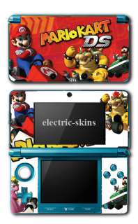 Nintendo 3DS mario kart skin kit,mario with bowser in karts  3dskart
