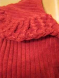 ELEVENSES Anthropologie RED Cord Jacket Blazer 4 NWT