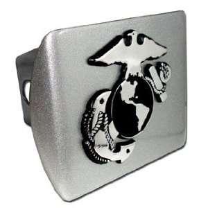 United States US Marine Corps USMC Brushed Silver with Chrome EGA
