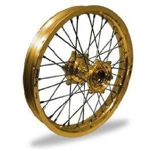 Pro Wheel Supermoto Rear Wheel Set   17x5.00   Gold Rim/Gold Hub 27