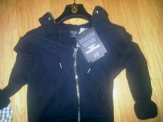the Dragon Tattoo Hoodie Black 34 (2 4 S) *Trish Summerville*