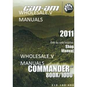 2011 Can Am Commander 800R 1000 Xt X Shop Repair Manual