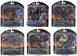 Halo Reach Series 5 Action Figures Set Of 6 *New*