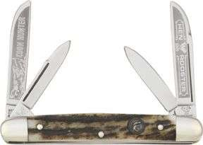 Hen & Rooster Knife Coon Hunter Congress Stag 214DSCH