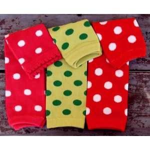 3 Piece Baby Polka Dot Leg Warmers Pack Baby
