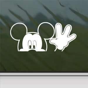 DISNEY White Sticker MICKEY MOUSE Car Vinyl Window Laptop