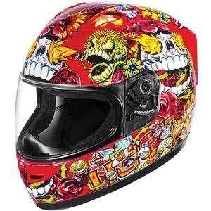 Icon Alliance SSR Dia De Los Muertos Helmet   X Large/Red