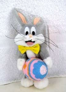 Cute BUGS BUNNY Holding EASTER EGG Mini Beanbag Doll