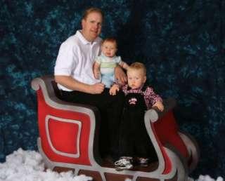 SANTA SLEIGH CHRISTMAS PHOTO PROP, HOLIDAY, LIGHTWEIGHT