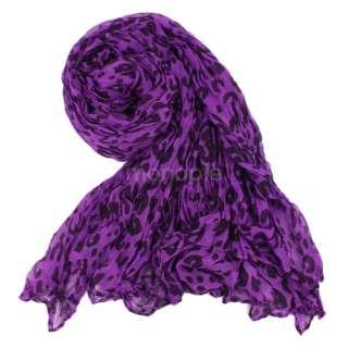 Woman Fashion Leopard Soft Shawl Scarf Wrap Long Stole Animal Print
